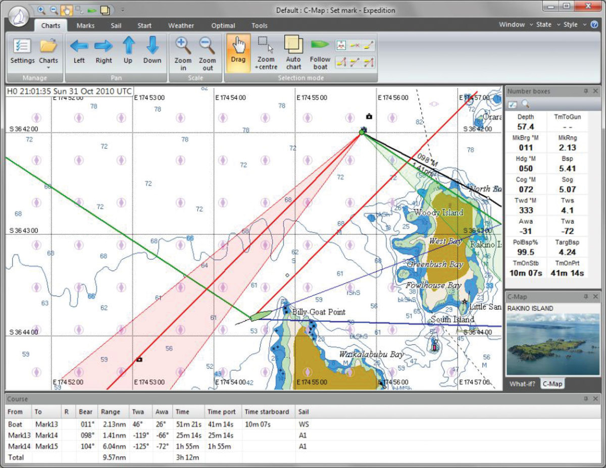 Expedition Marine software is targeted more towards serious racers than cruisers and allows you to download weather data from multiple sources such as NOAA and SailDocs