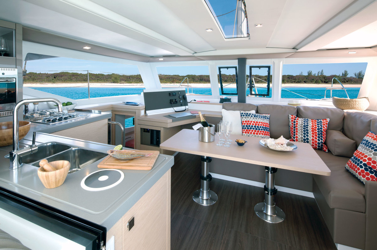 The saloon is a spacious one for a 40-footer