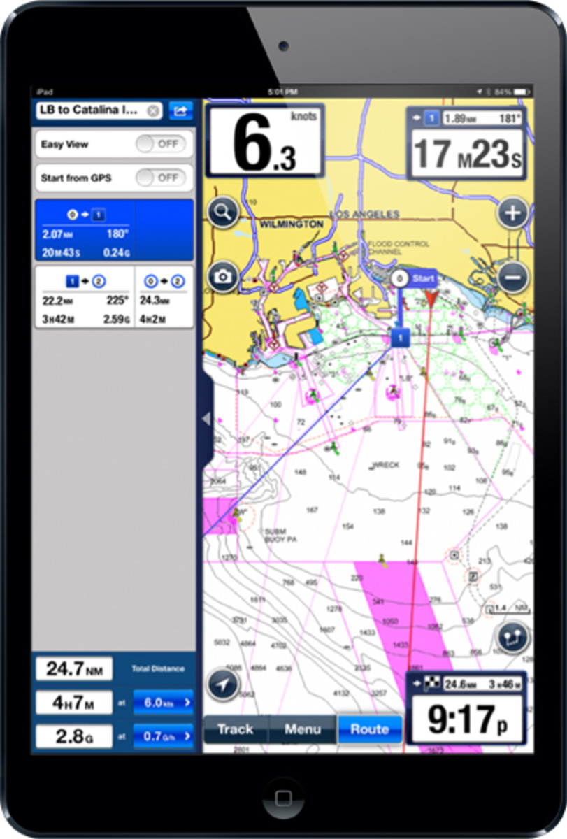 Navionics's upgraded app can now sync with onboard devices