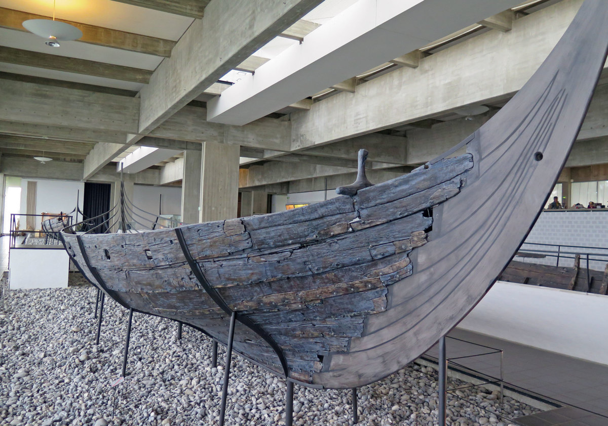 The remains of a 1,000-year-old boat found in Denmark
