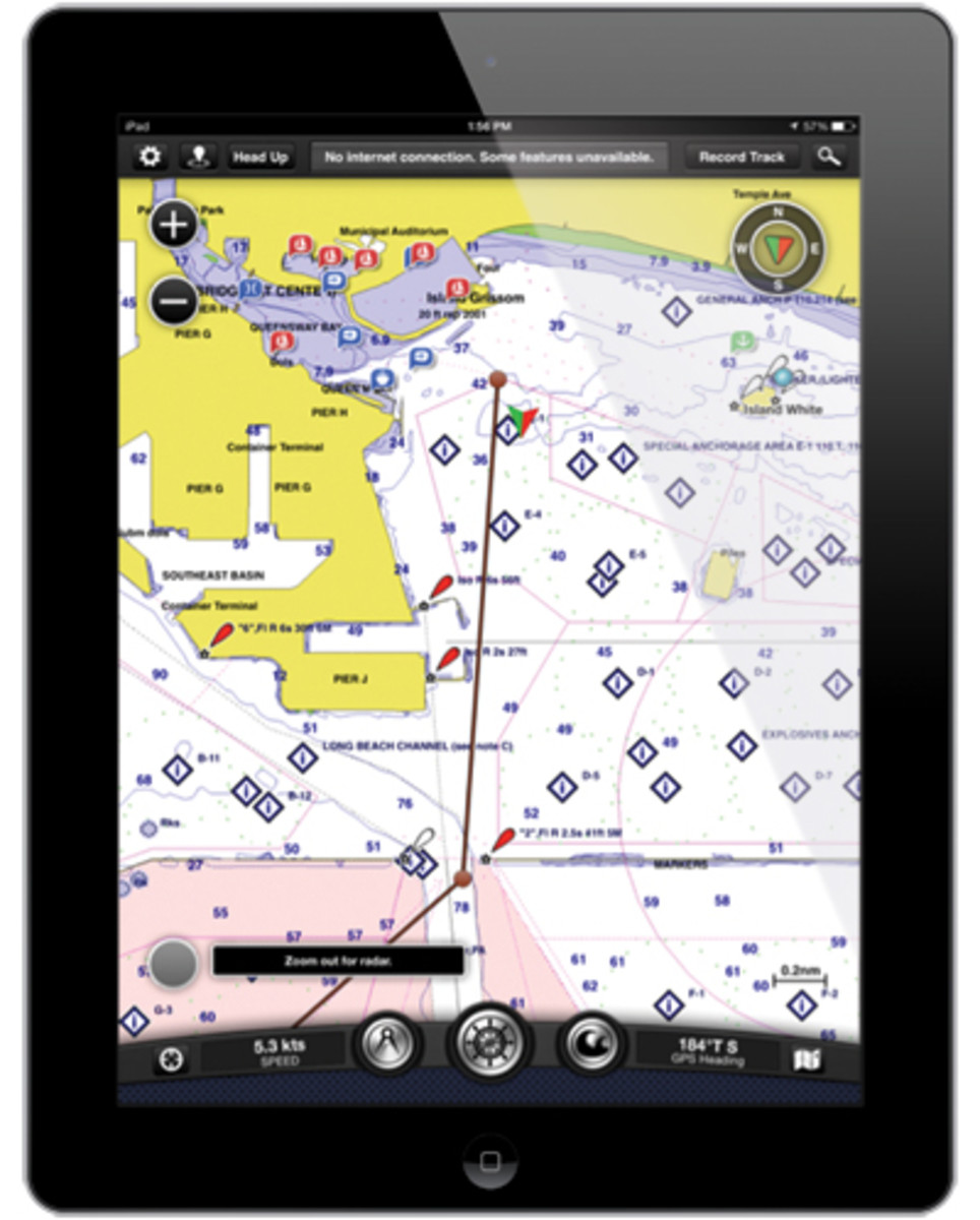 Garmin BlueChart Mobile uses high-quality charts