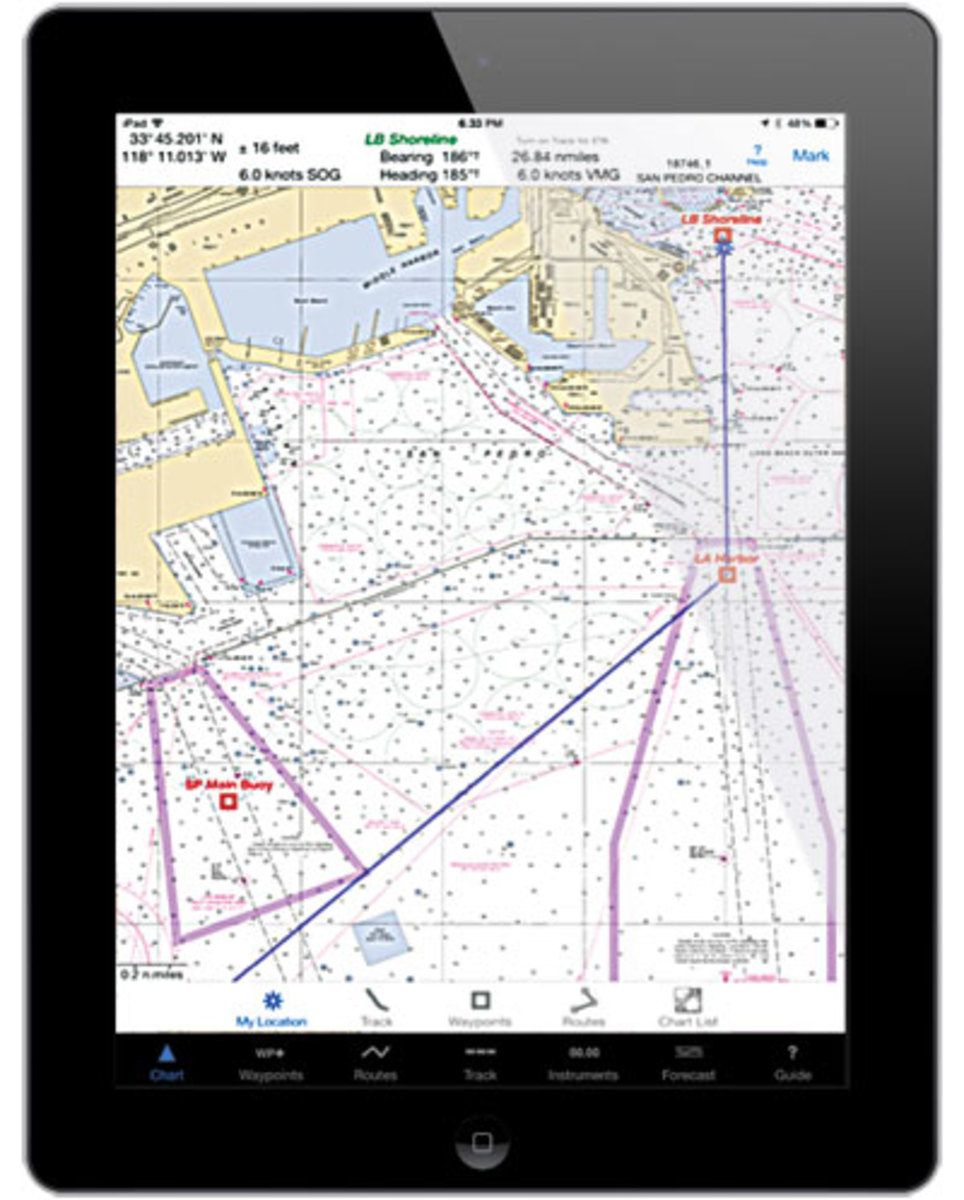 iSailGPS is effective underway