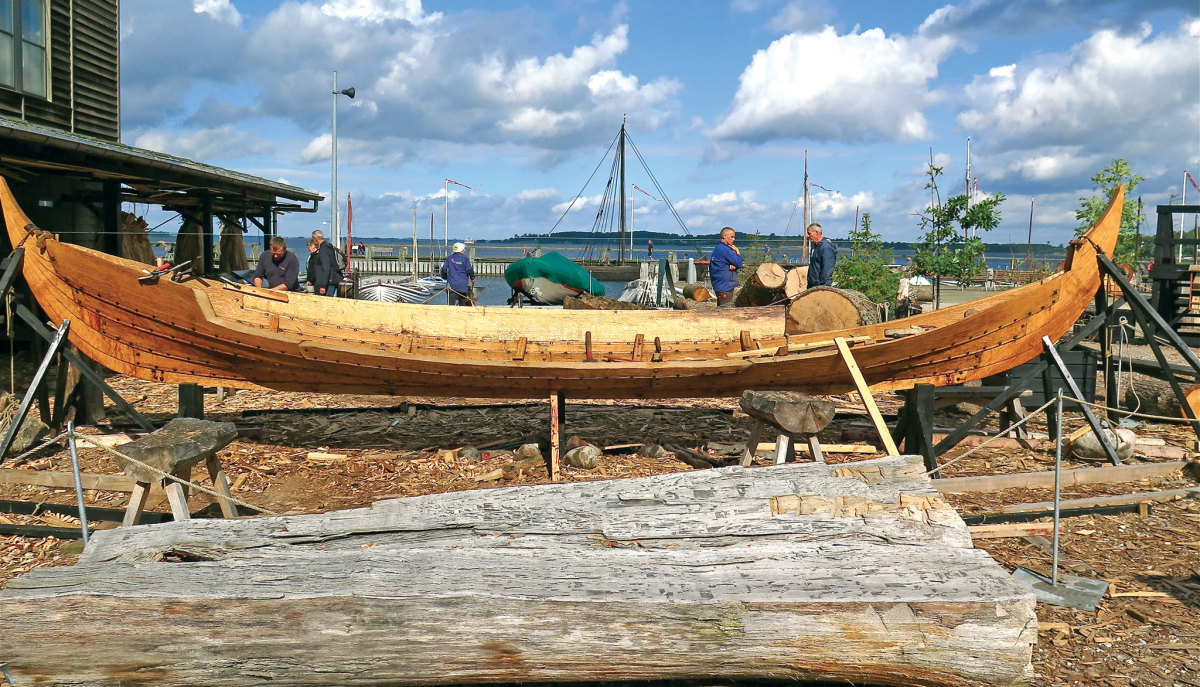 Replicas are built using traditional tools and methods at the Viking Ship Museum