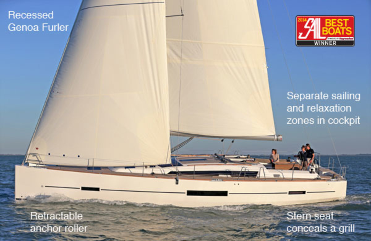Sleekly styled and fast, the Dufour Grand Large 500 accommodates a wide range of sailing styles