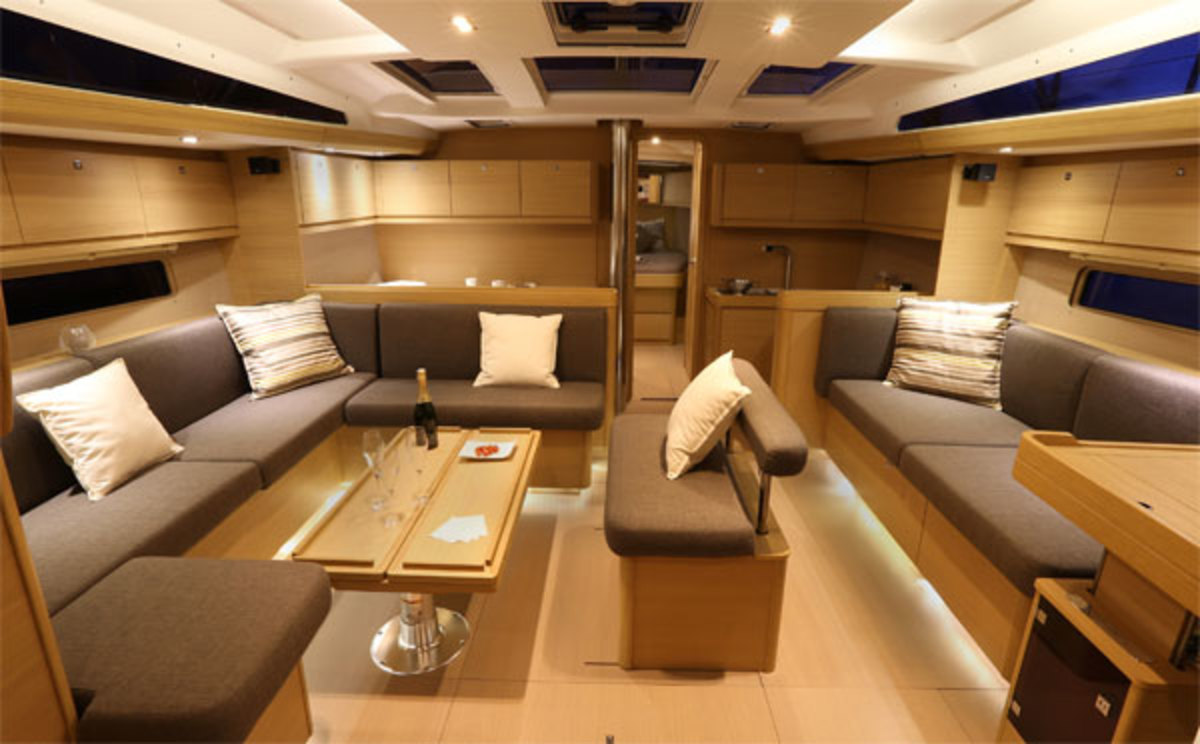 The saloon is elegantly styled
