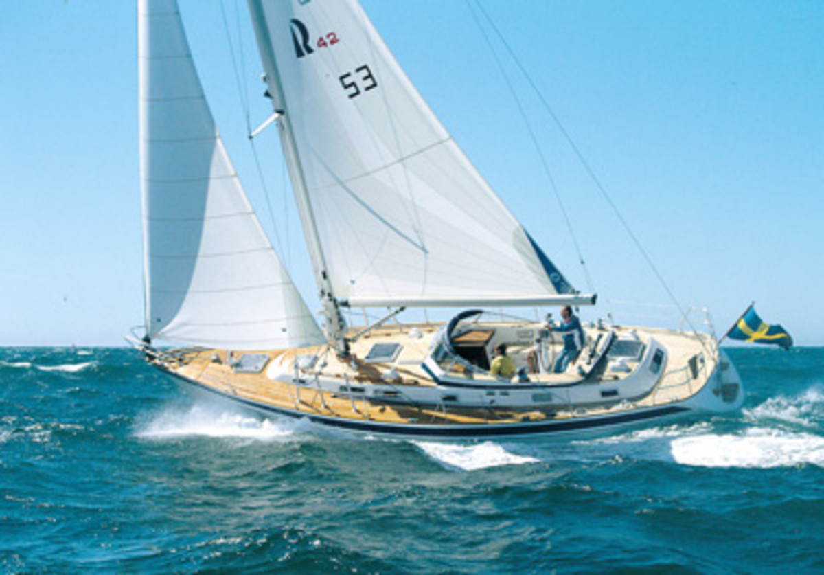A Beneteau 57 doing what it does best