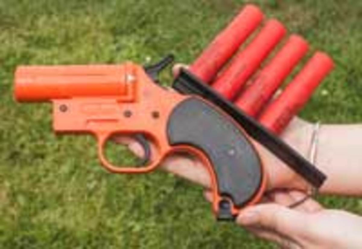 A flare pistol