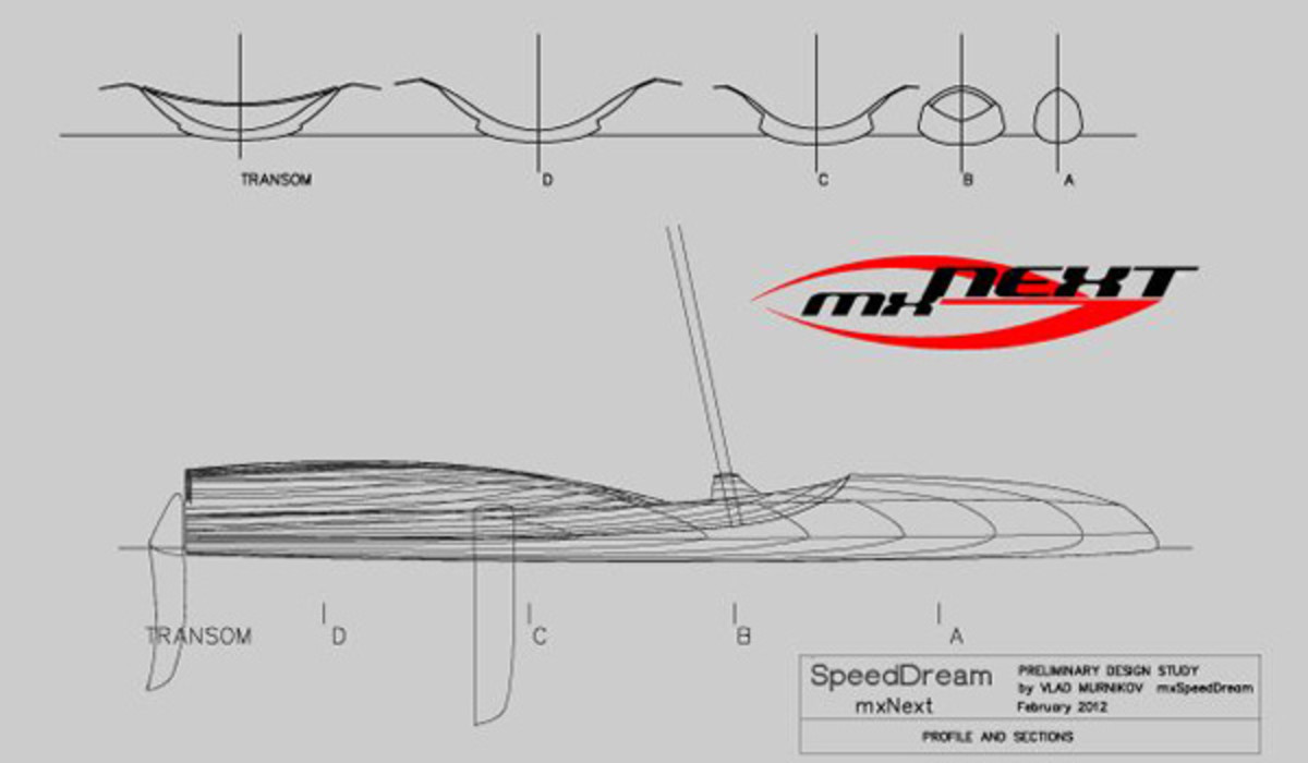 The dramatic lines of the mxNext are evident in these drawings