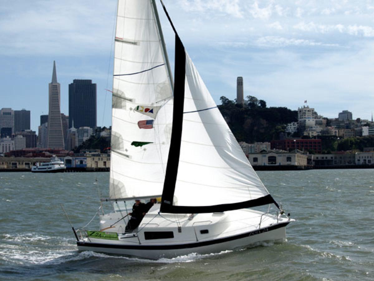 Zen 24 at sail