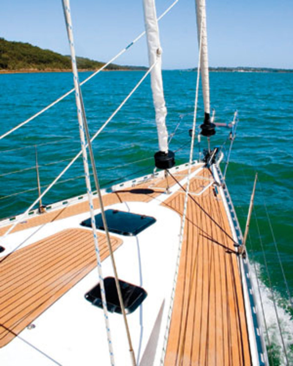 Boat decks teak vs synthetic teak sail magazine by contrast synthetic teak decking can be installed at a fraction of the cost30 to 50 percent less depending on the joband requires almost no solutioingenieria Gallery