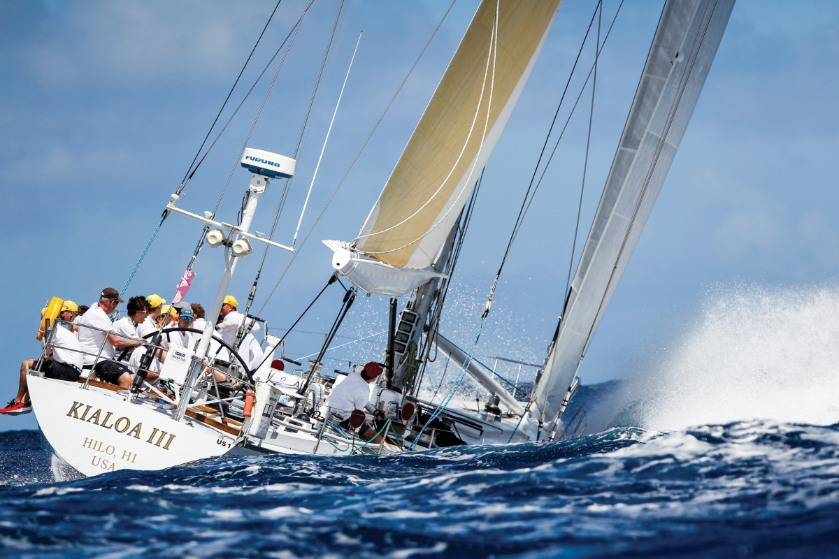 You're never short of classic raceboats to ogle at Antigua Sailing Week