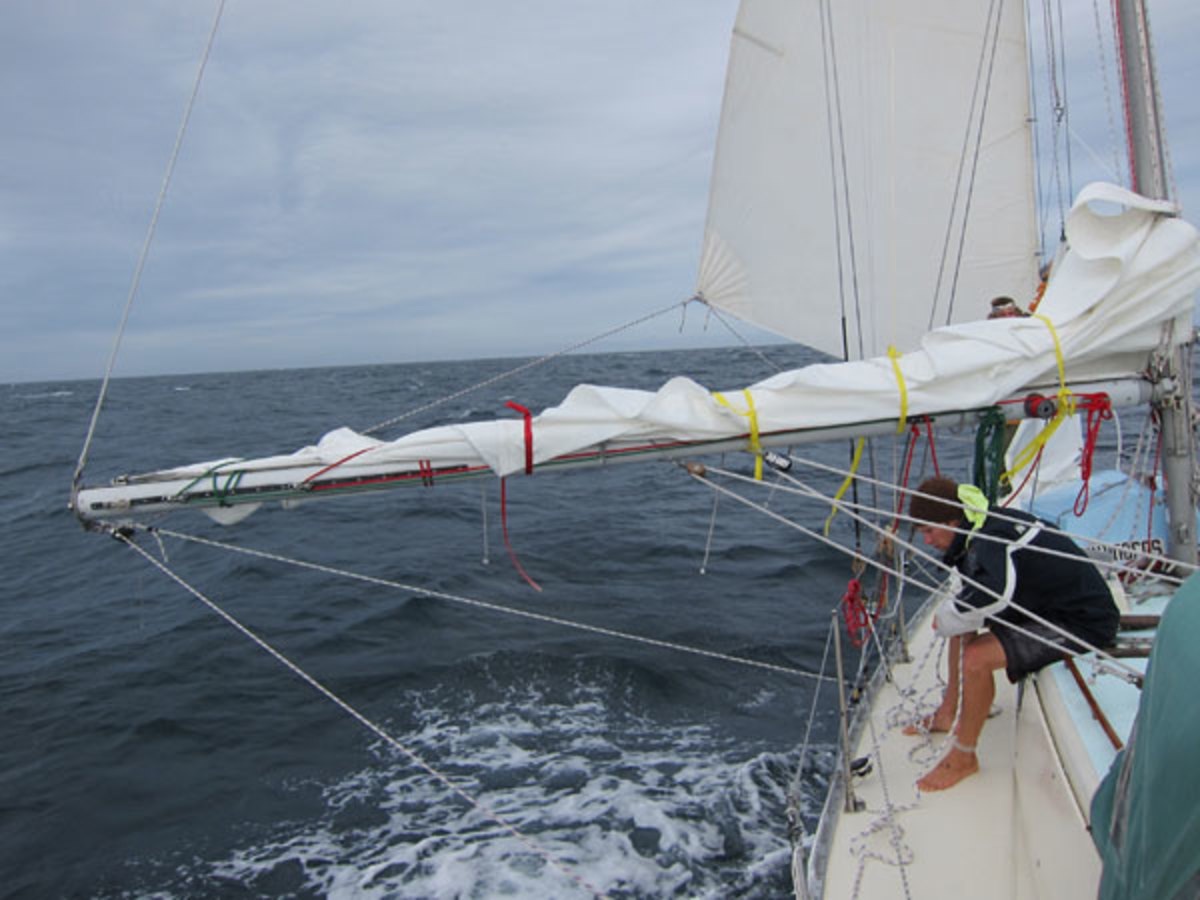 Your boom can also be used as a whisker pole when sailing downwind