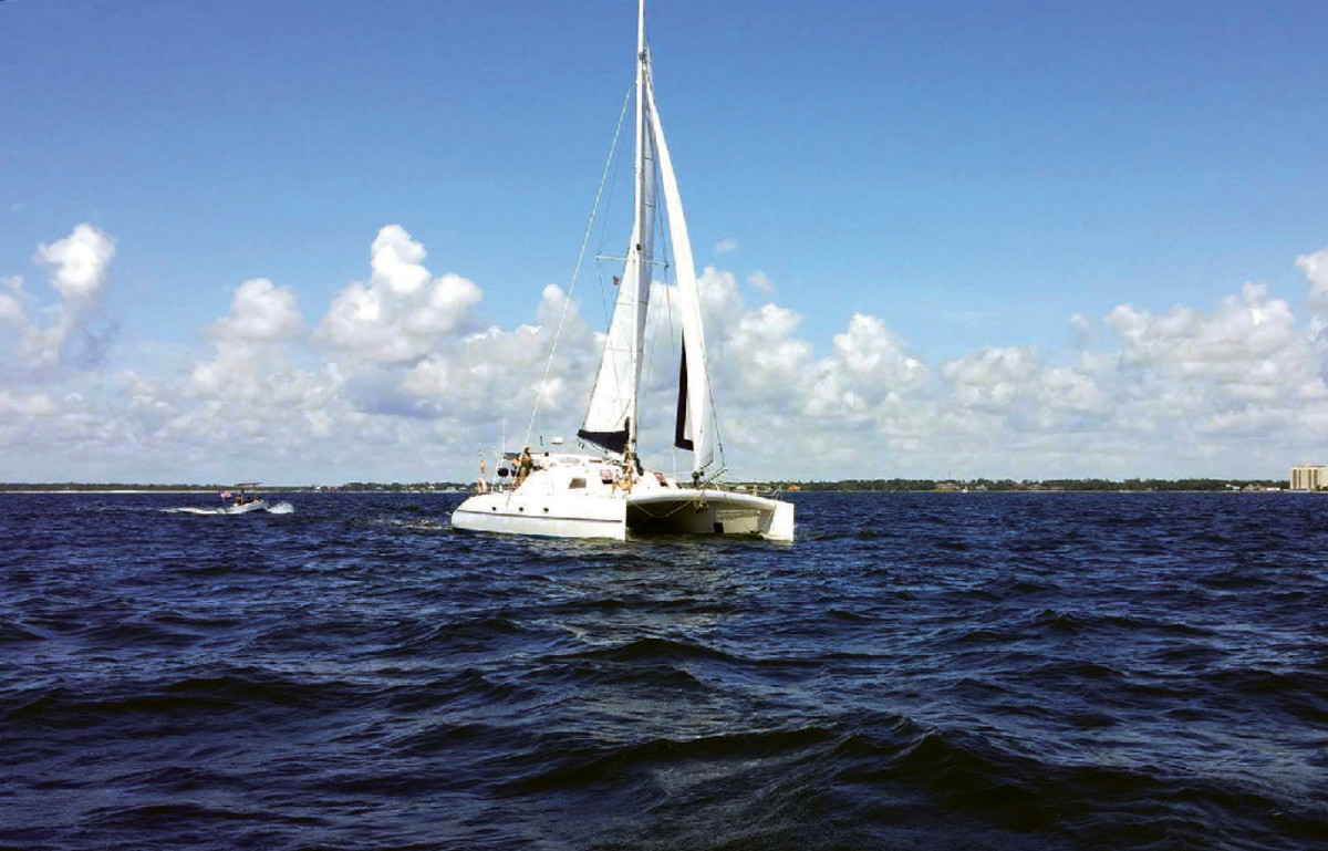 Andanza sets sail from Florida, bound for France