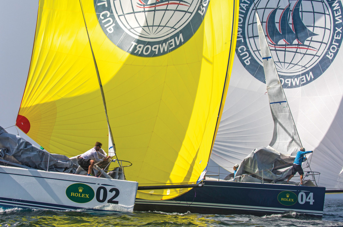 New York Yacht Club teams lock horns downwind