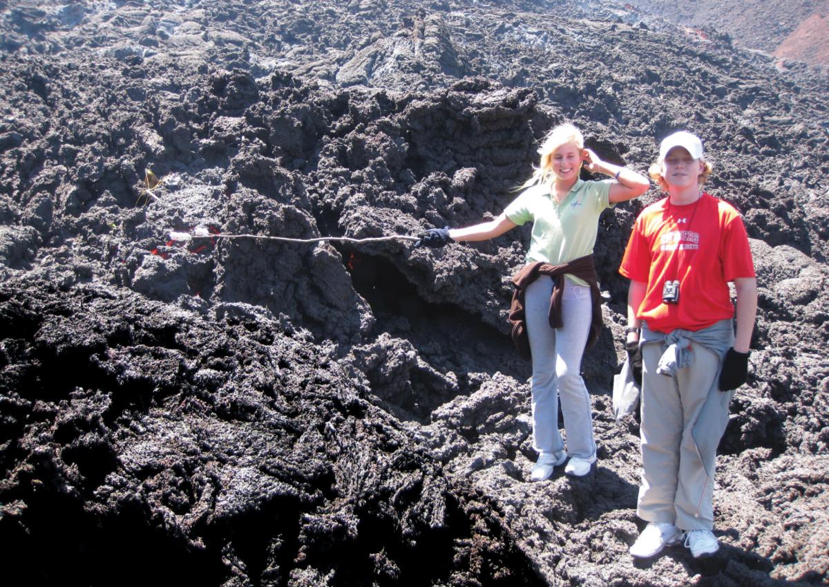 Exploring a volcano in Guatemala