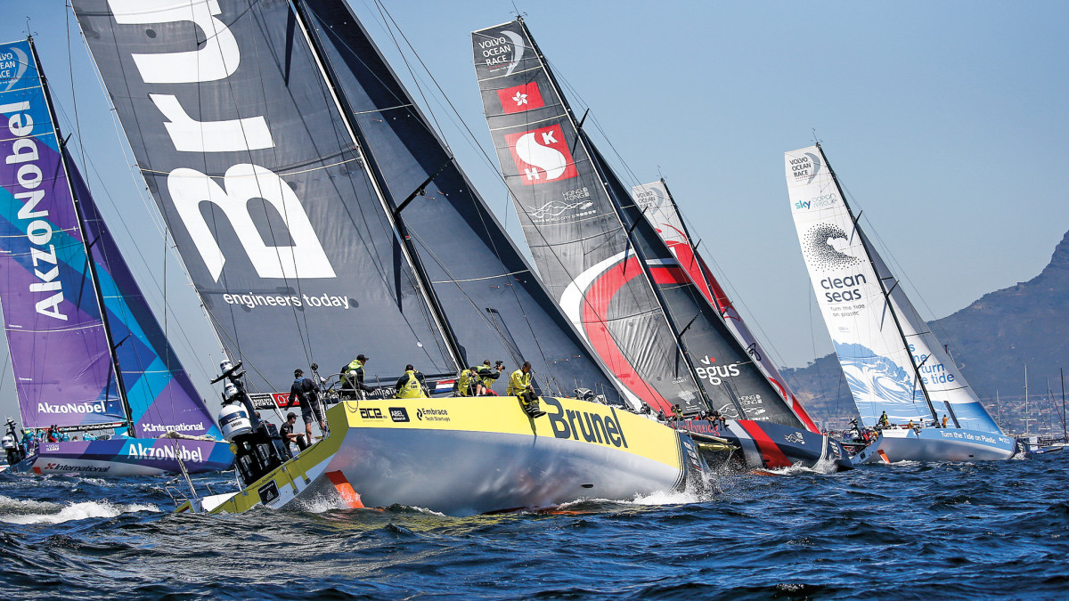 There will be plenty of inshore racing (left) on tap during the Newport stopover