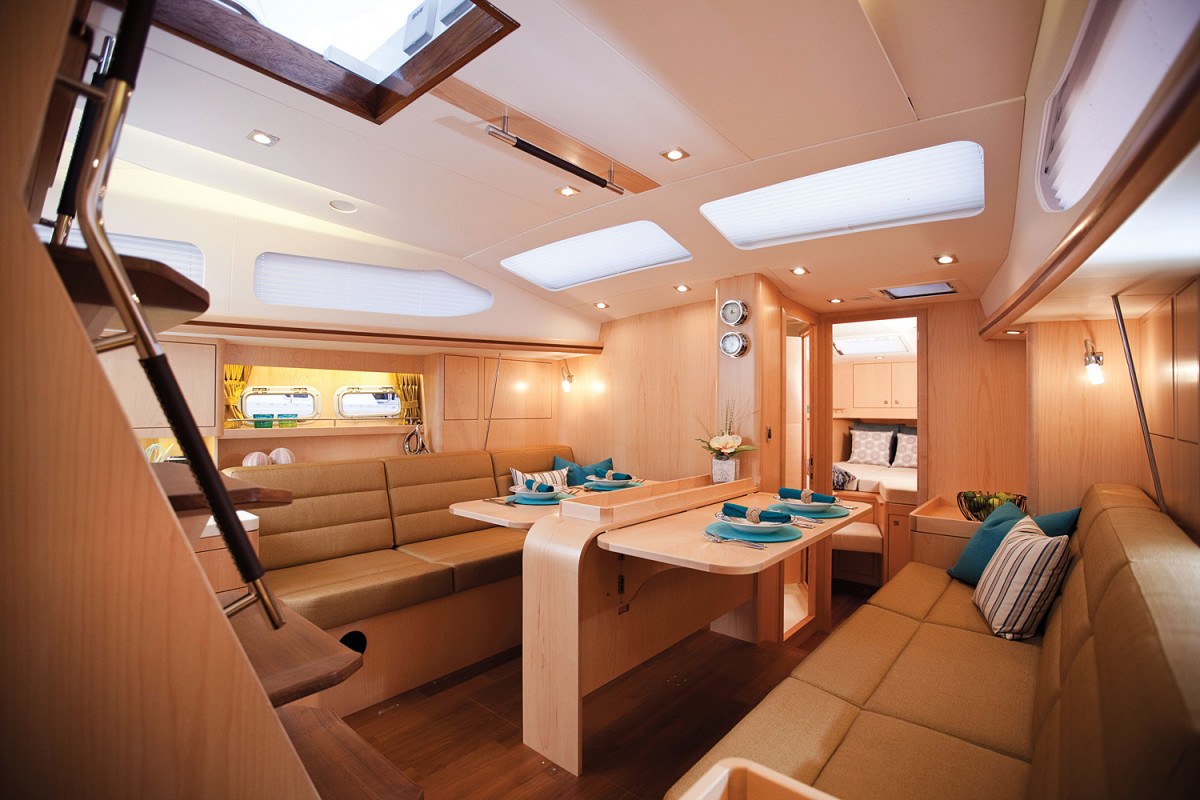 You will never have to worry about roughing it aboard the Gunfleet 43
