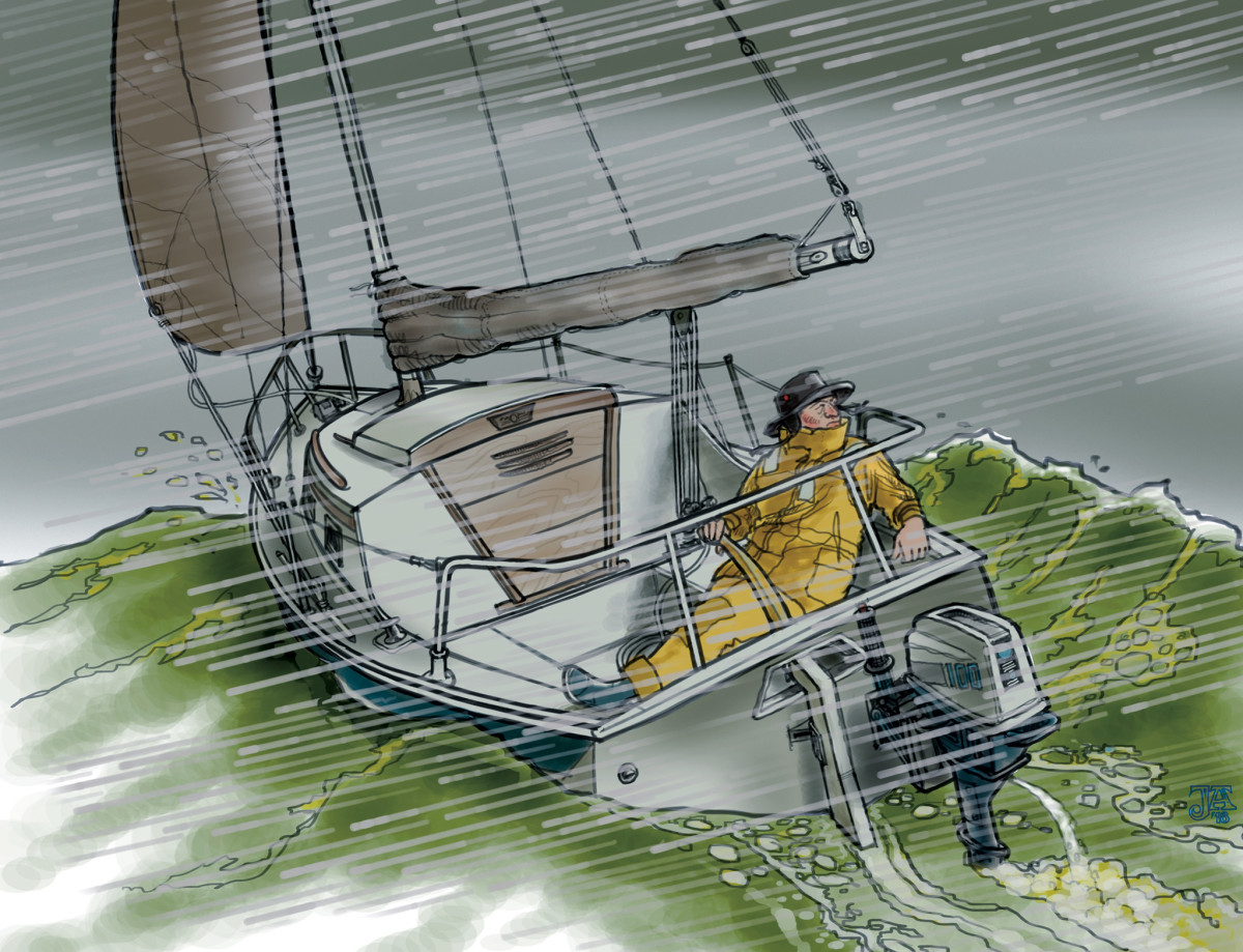 A sailor takes a gamble with the weather and nearly loses all