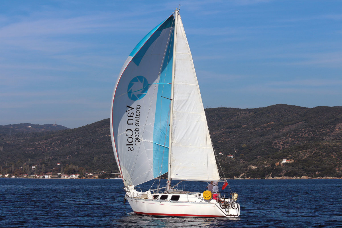 Today's cruising A-sails provide the necessary power to keep moving in almost anything
