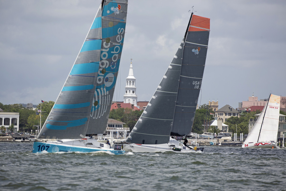 The fleet enjoyed perfect sailing conditions during the start in Charleston, South Carolina