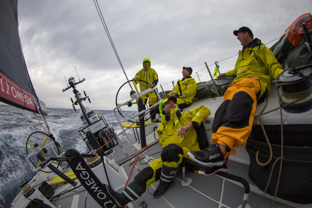 It's been good times aboard Team Brunel of late with yet another leg win
