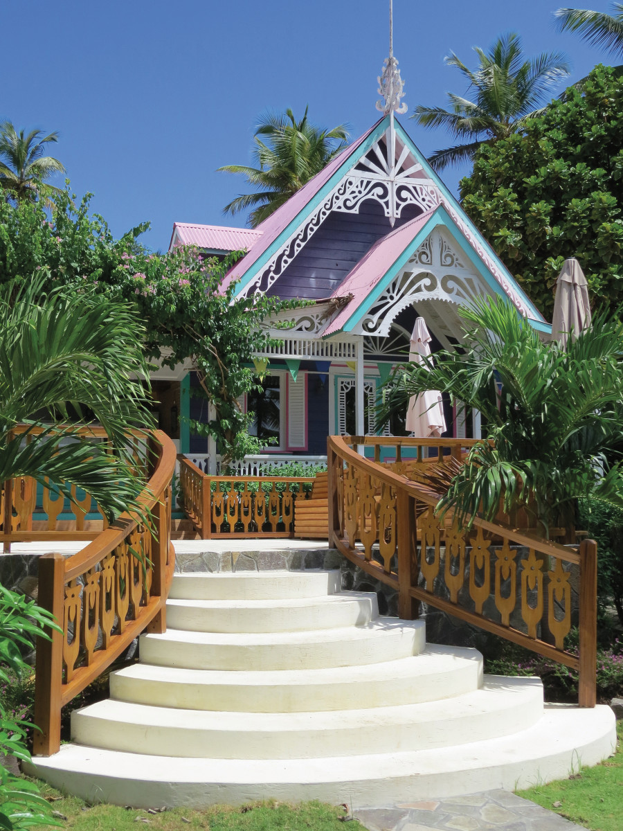 The Purple House on Mustique is very true to its name