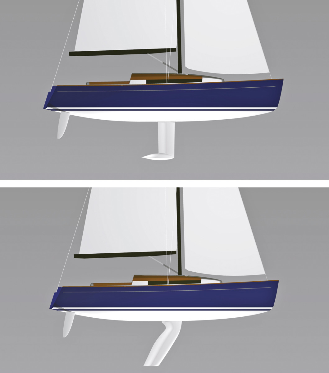 Fix Keel (top); Swing Keel (bottom)