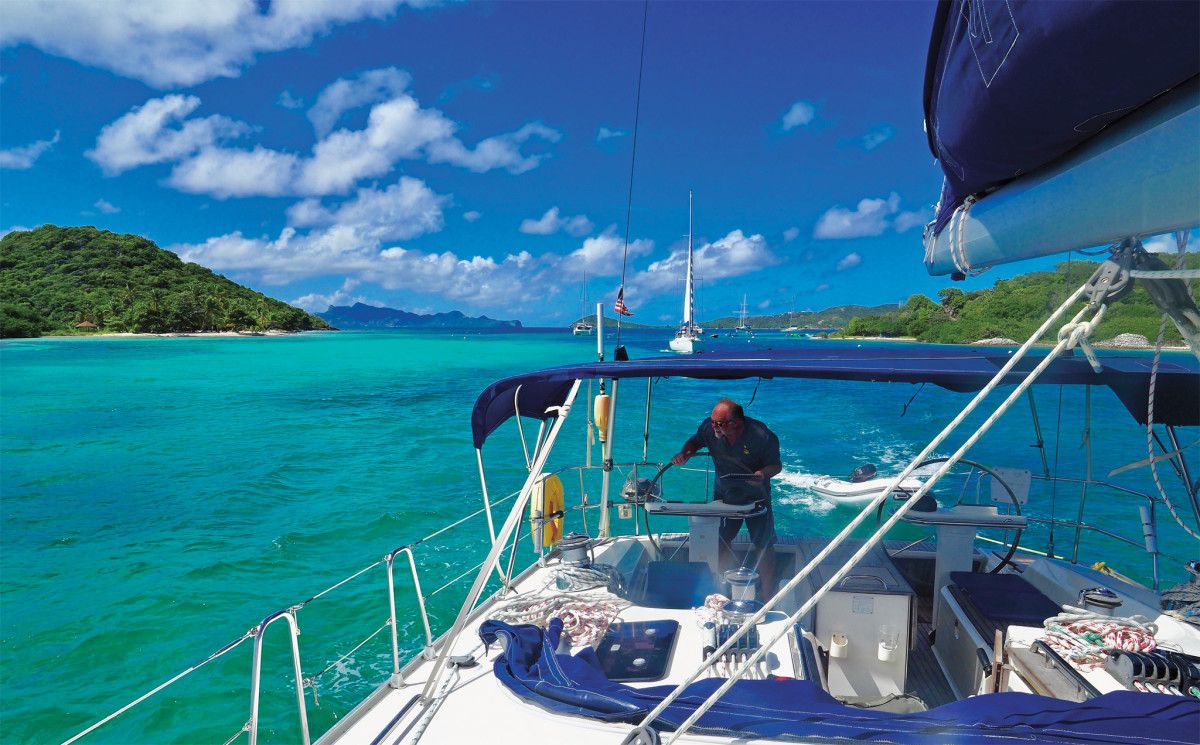 We kept a close eye on the depth as we made our way into the Tobago Cays