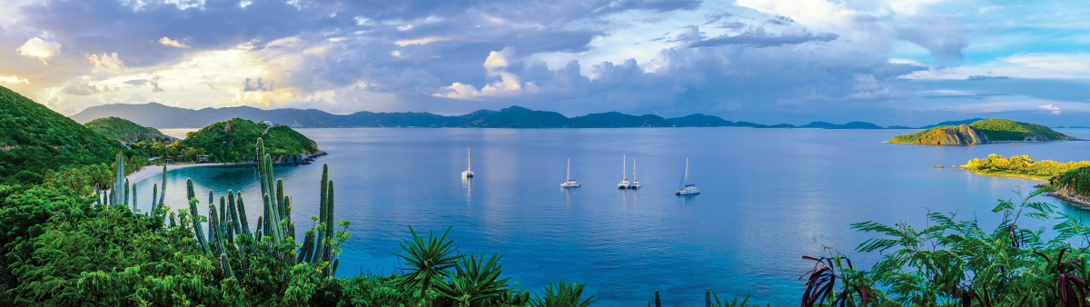 Gorgeous views, sparkling blue water and plenty of room in the anchorages—the BVI the way they were