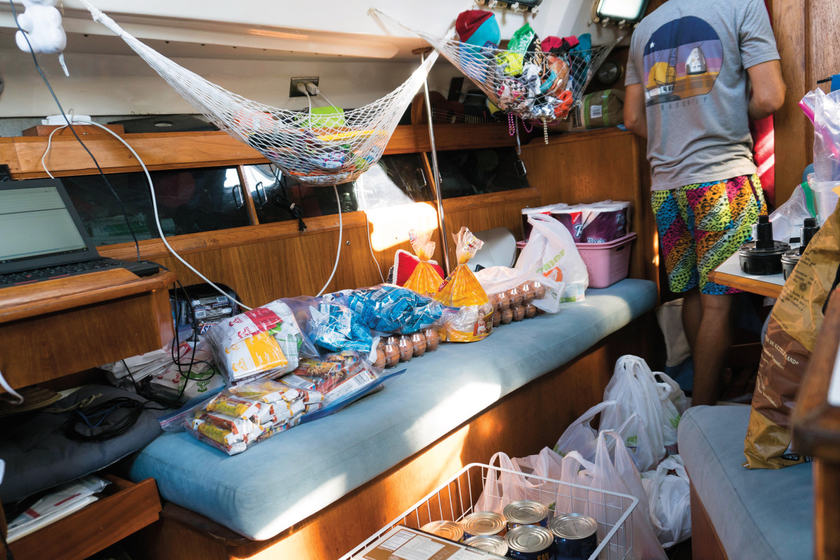 Provisioning can be a challenge aboard a 31-footer