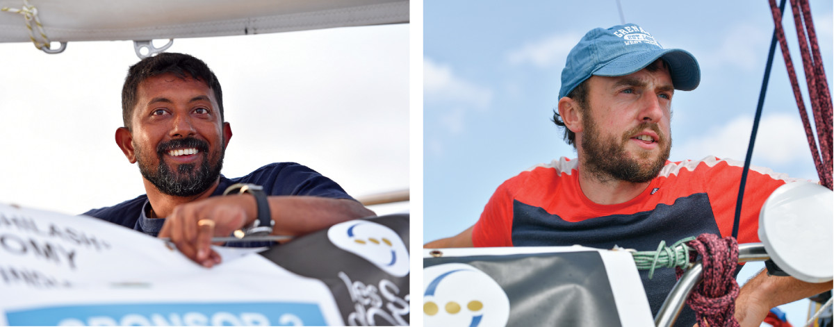 Tomy, shown here before the start, was seriously injured (left);McGuckin came through relatively unscathed (right)