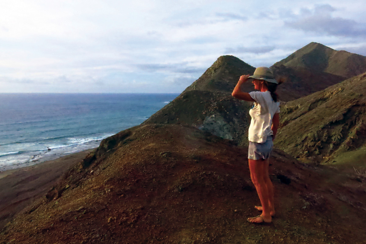 The author surveys the Pacific from Bahia Magdalena