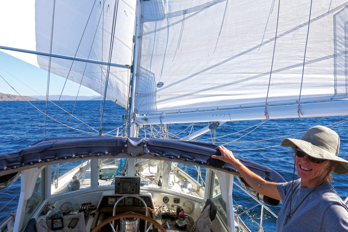 Making good time sailing wing-and-wing down the Mexican coast