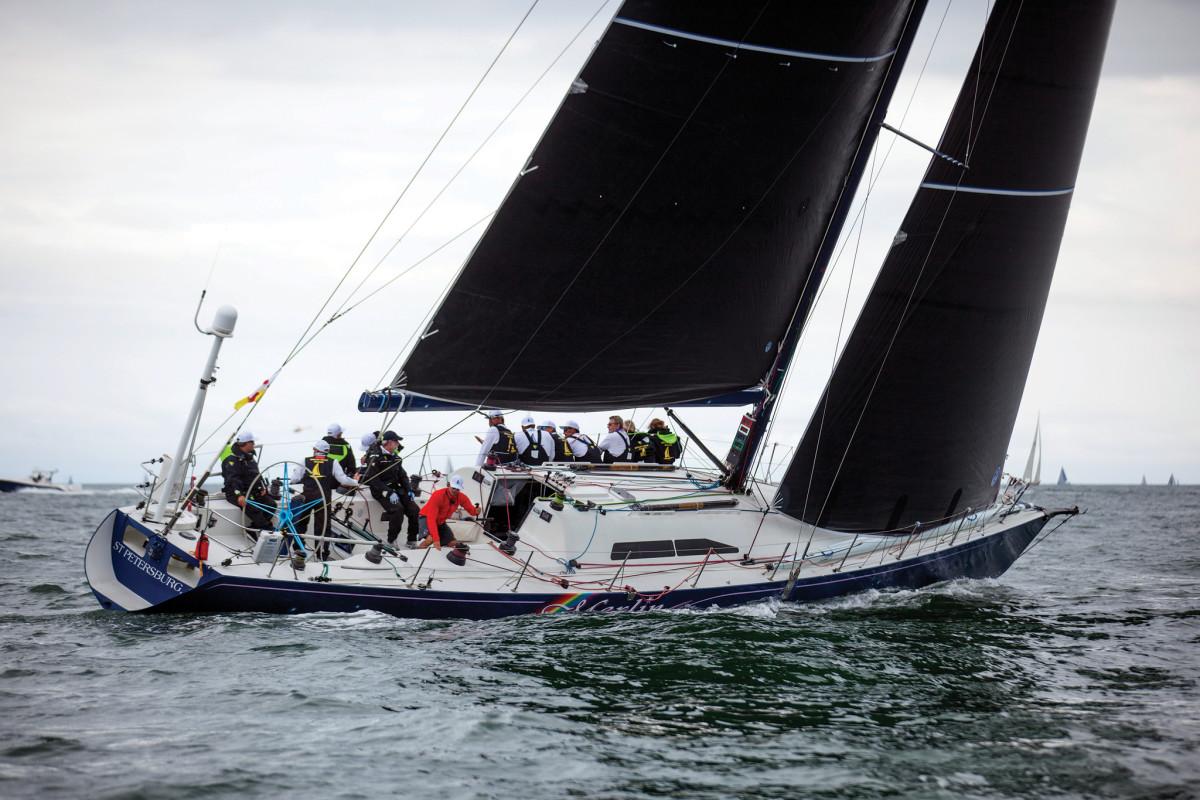 Merlin's long, narrow hull is key to her still impressive boatspeed