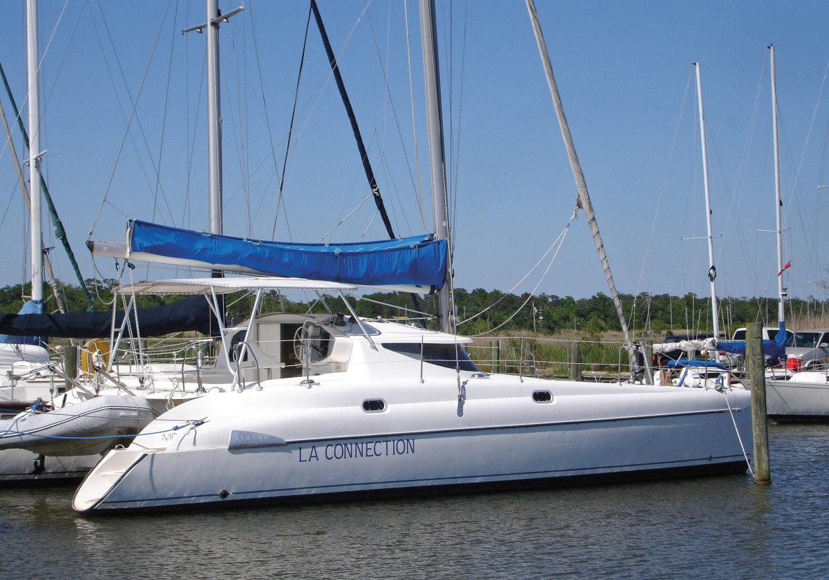 The Athena 38 was one of the boats that cemented FP's reputation as a cat builder