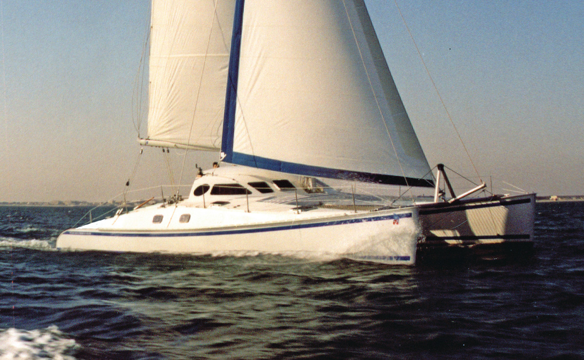 The Outremer 40 still looks sleek and fast