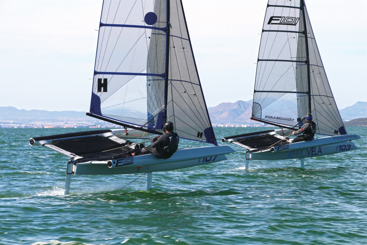A pair of UK-built F101s does battle during a recent regatta