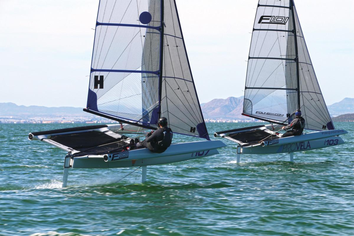 A pair of UK-built F101s does battle during a recent regatta