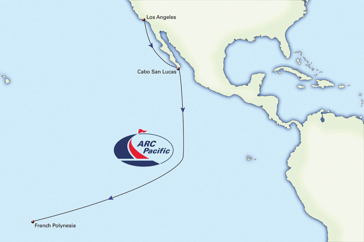 The ARC Pacific will take boats from Los Angeles to French Polynesia
