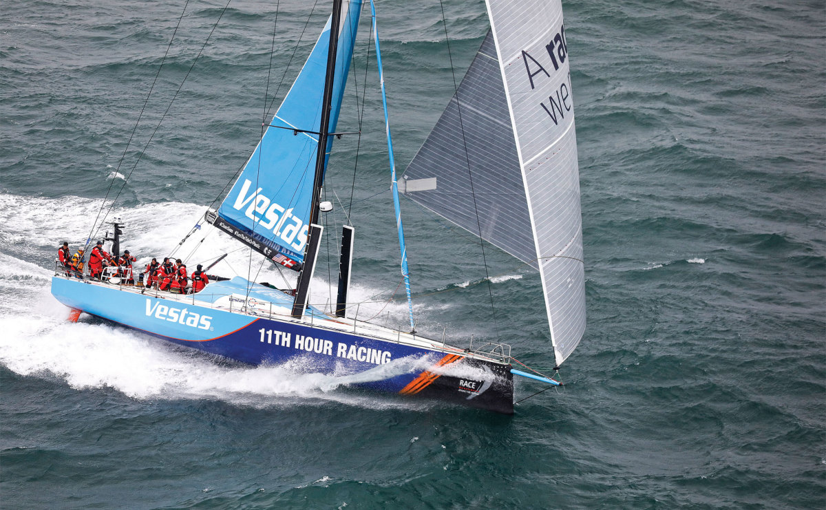 The U.S./Danish effort Vestas 11th Hour Racing (left) is just one example of how the VOR's roots run deep in the United States