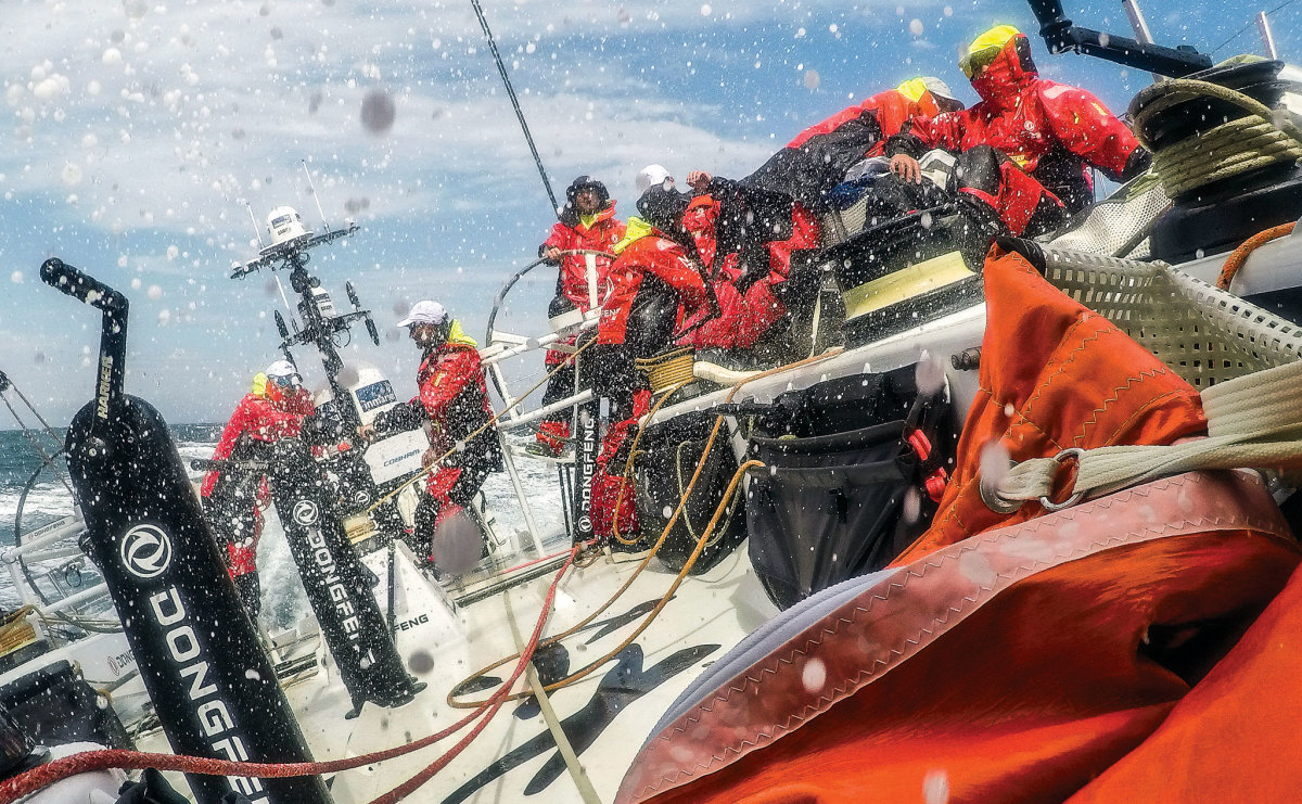China's Dongfeng Race Team is packed with veterans from previous races, including its talented French-born skipper, Charles Caudrelier