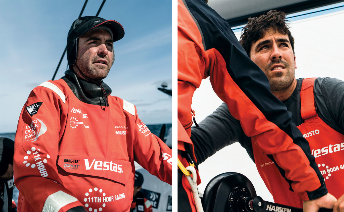 U.S. sailors Charlie Enright (left) and Mark Towill (right) are teaming up for a second try at the VOR with Vestas 11th Hour Racing