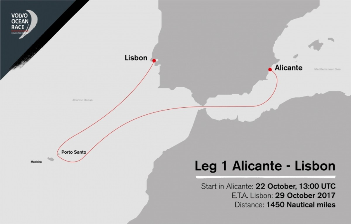 Leg 1 will send the fleet well out into the Atlantic Ocean, before it sets a course for the finish in Lisbon, Spain
