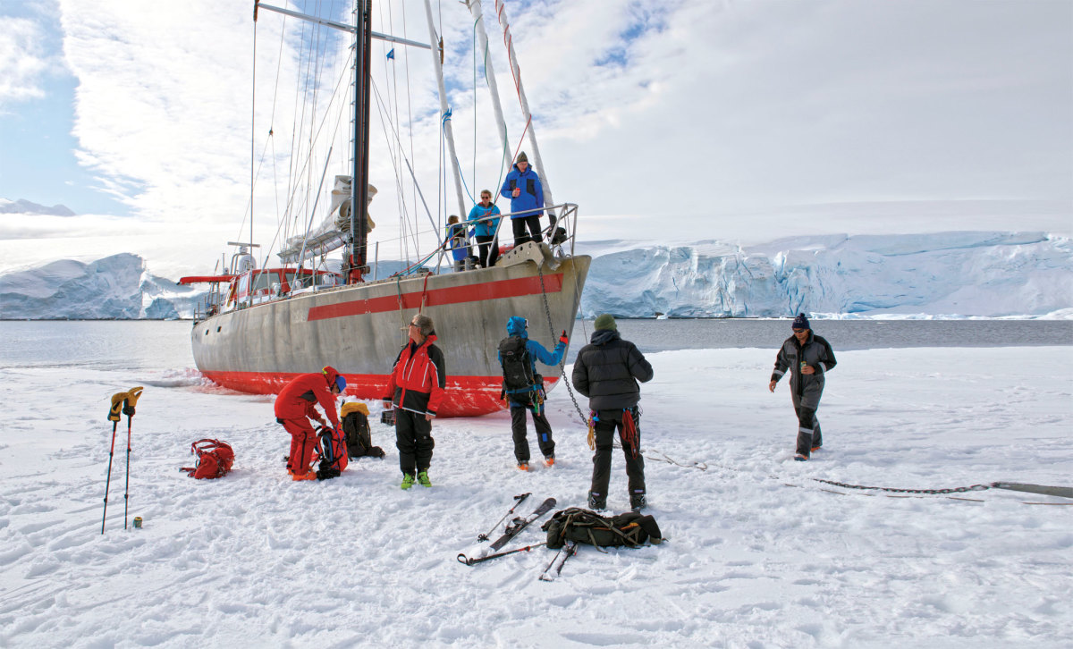 Sailing doesn't get much more adventurous than this, as Pelagic Australis takes to the ice