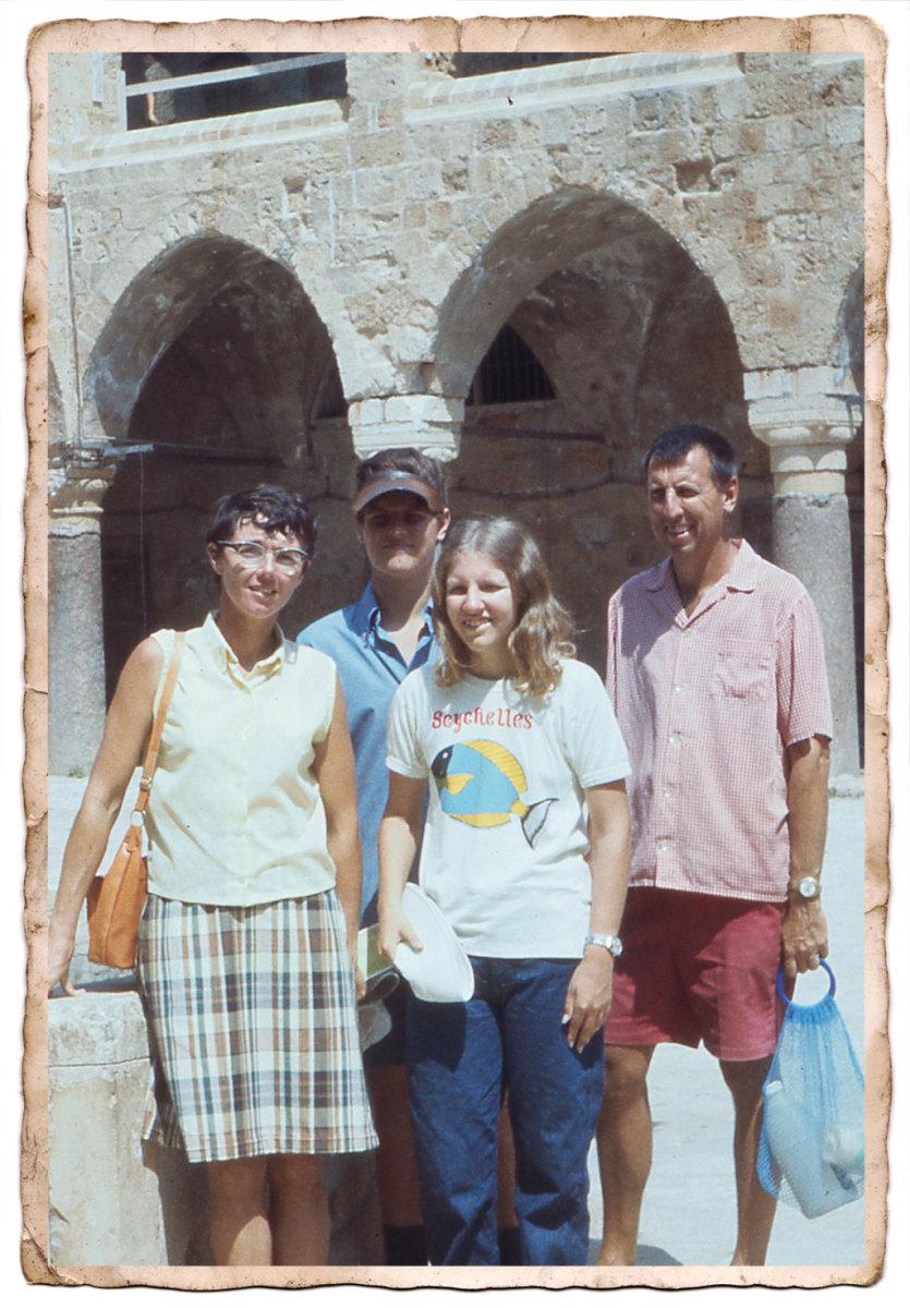 The Wilcox family in Akko, Israel