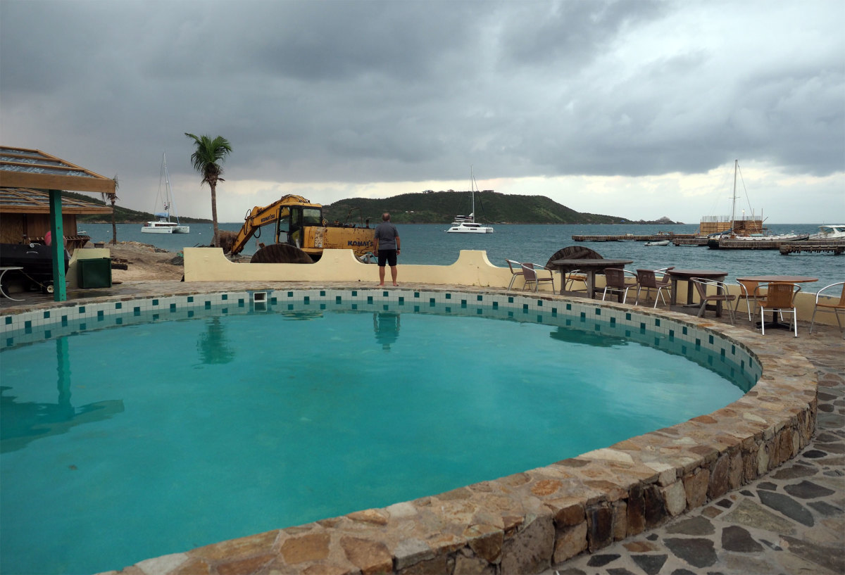 We arrived at Leverick Bay on Virgin Gorda the day the swimming pool was reopened and enjoyed a good dinner at the restaurant.