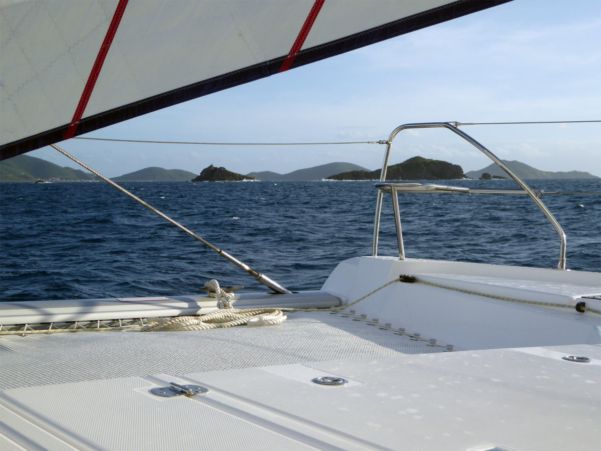 A perfect breeze, beautiful scenery, uncrowded waters and empty anchorages all add to an ideal charter vacation