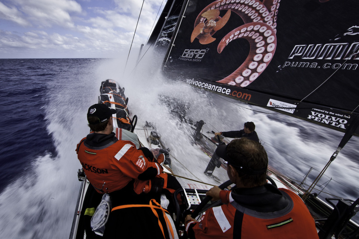 Read's 2011-12 VOR team, Puma, was well served by its 3Di sails all the way around the world.