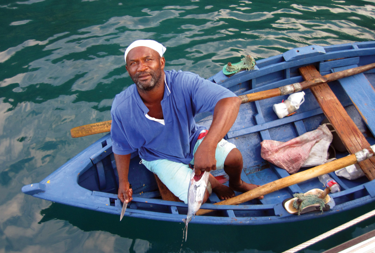 Buying fresh tuna in St. Vincent