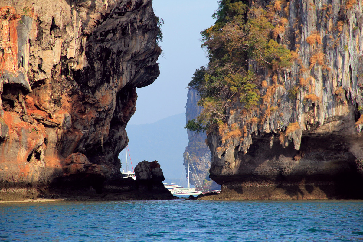 Thailand's Phang Nga Bay was one of many places the Griswolds visited during their trip;